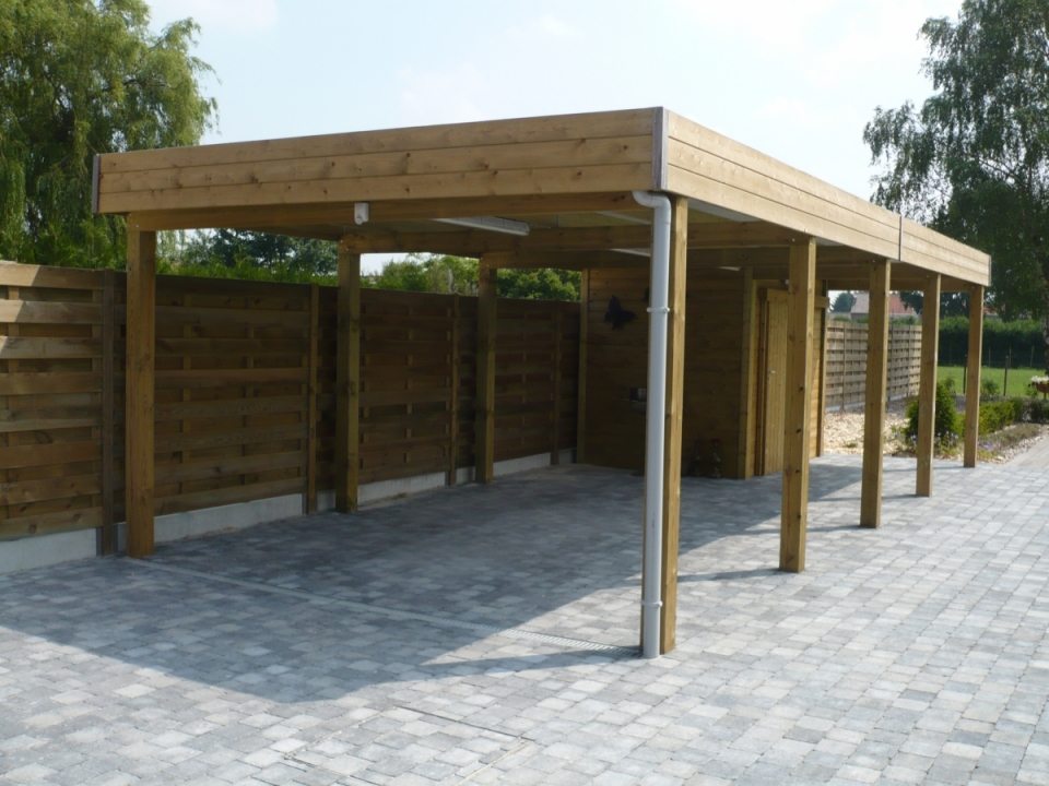 Tuinhout de meyer carport hout for Open carports
